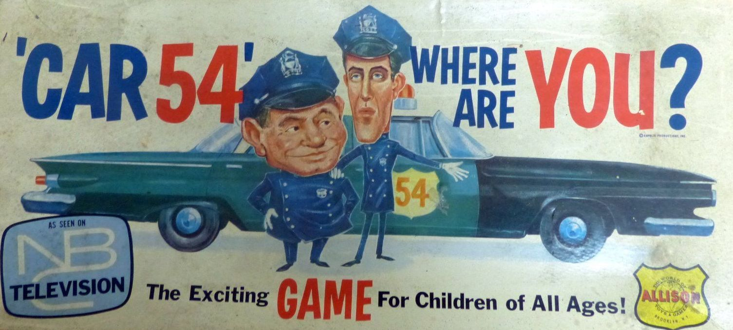Fred Gwynne Car 54 Where Are You Board Game