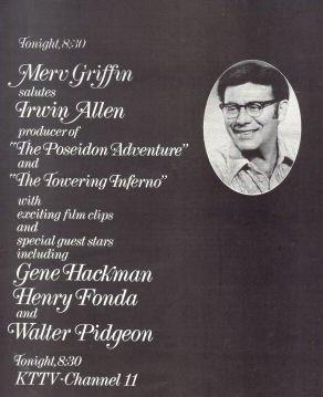 Irwin Allen Merv Griffin Promotional Ad