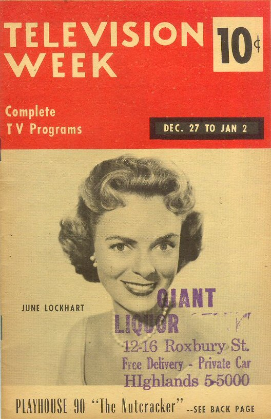 june lockhart television week tv guide rh uncleodiescollectibles com NYC TV Guide television guide weekly