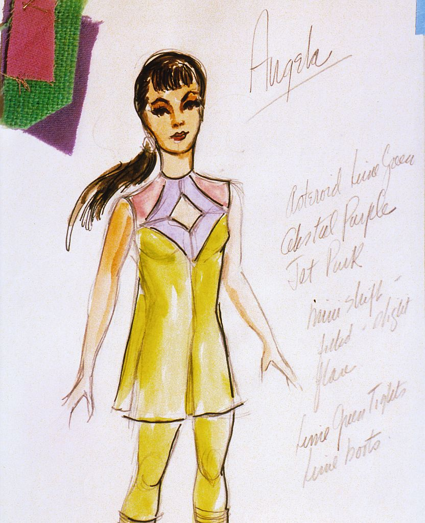 Original Angela Cartwright Costume Drawing 3rd Season