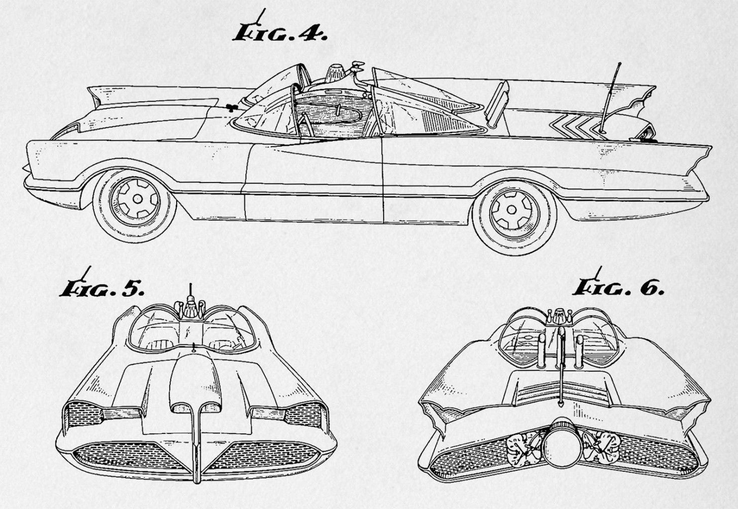 batmobile blueprint art image collections