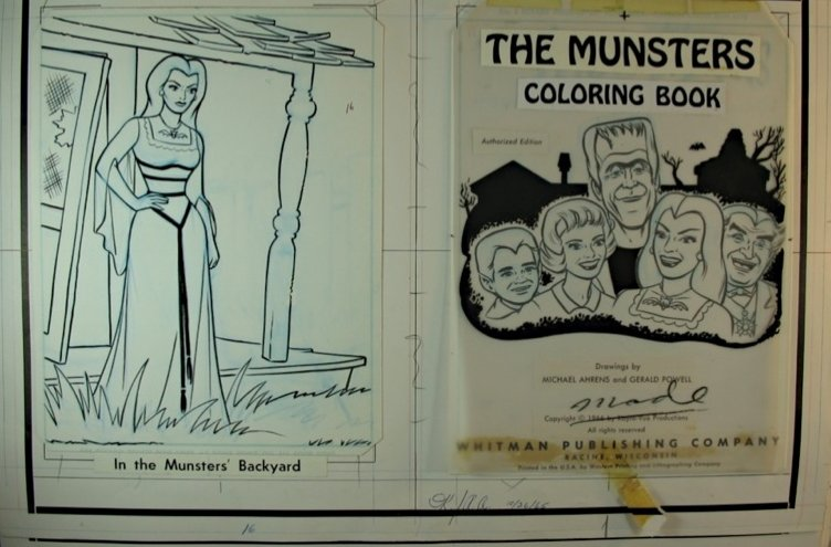 Coloring Book Cover Art : The munsters on dvd