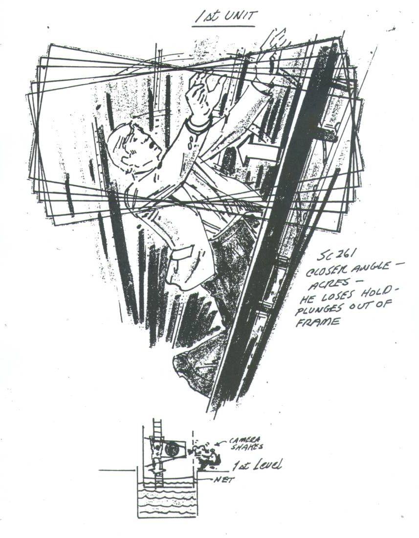ORIGINAL POSEIDON ADVENTURE STORYBOARD ART